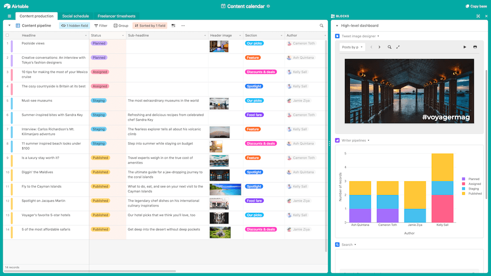 airtable - task management softwawre
