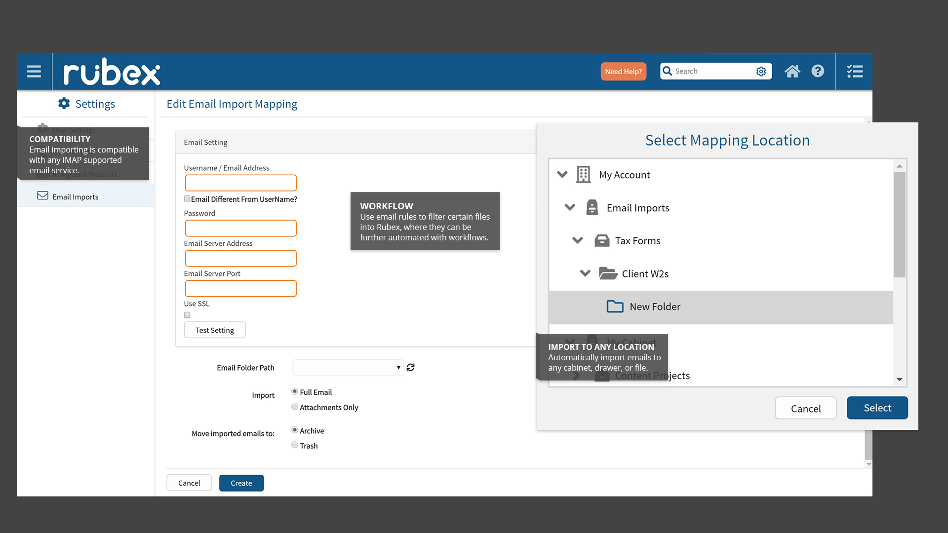 rubex document management software