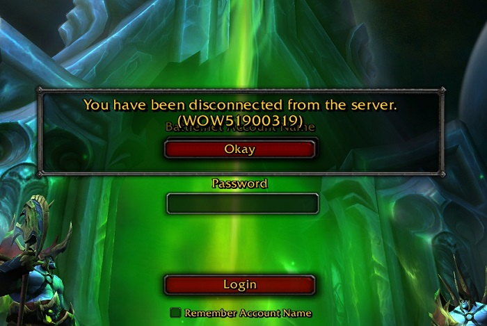 Fix WOW51900319 Error
