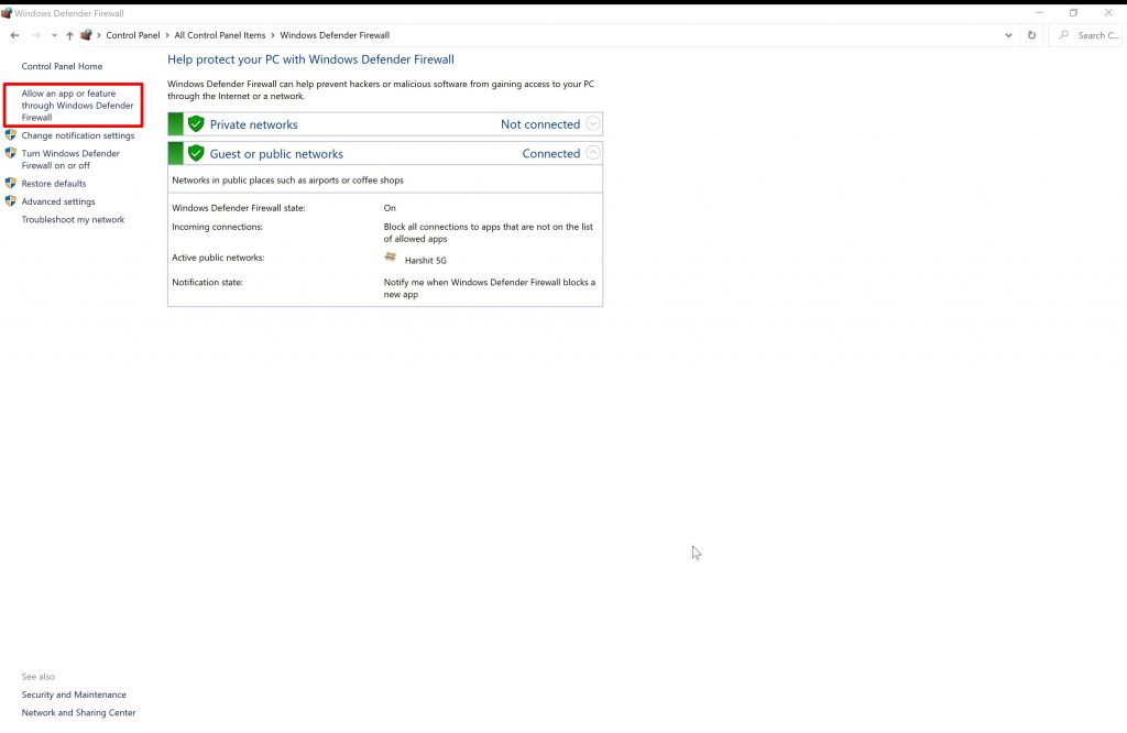 steam api failed to initialize- Windows defender fierewall
