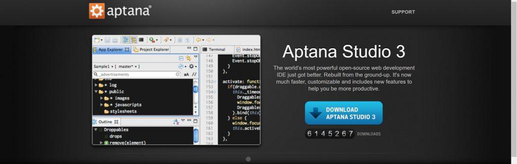 Aptana- Best IDEs for Python