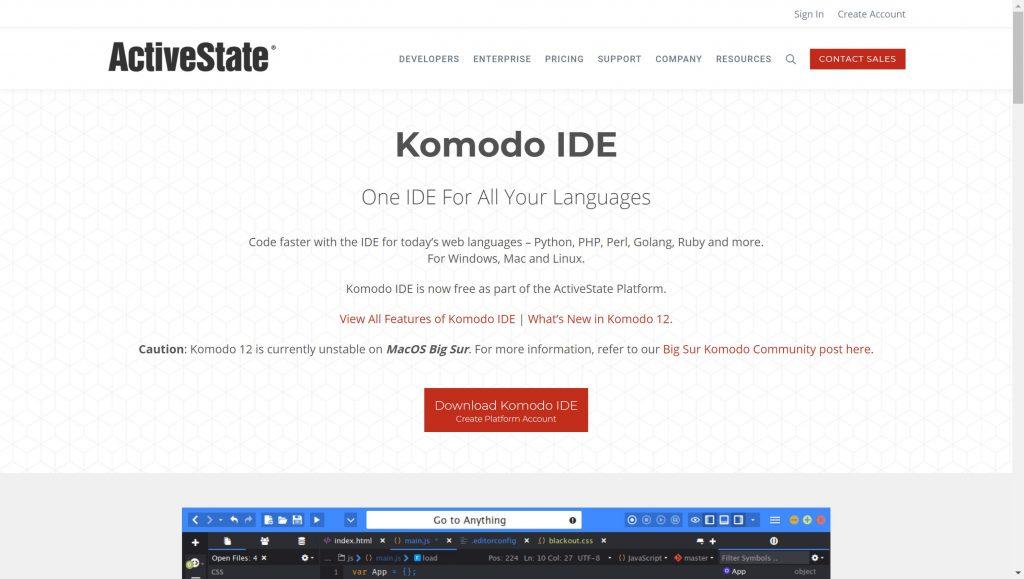 Komodo IDE for programmers- Best IDE