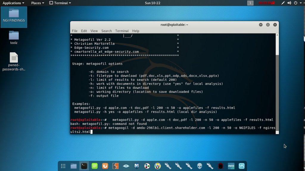 Metagoofil- Free OSINT Tools