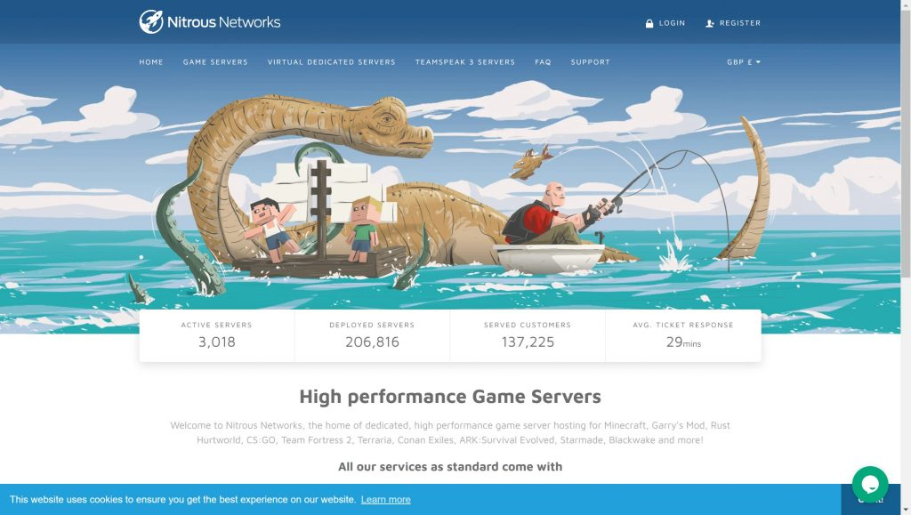 Nitrous network- best free ark hosting servers