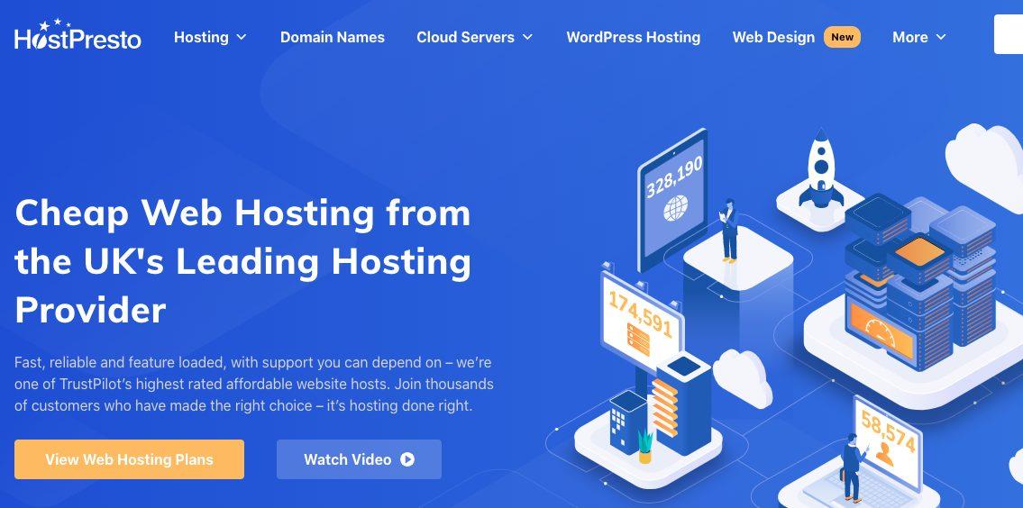 hostpresto node js hosting
