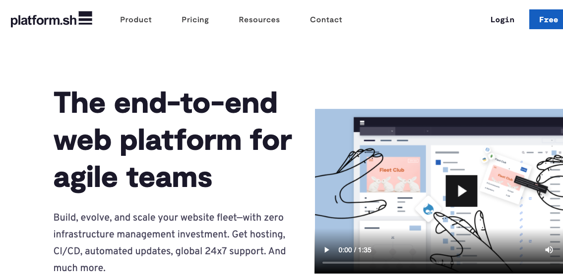 platform.sh node js hosting