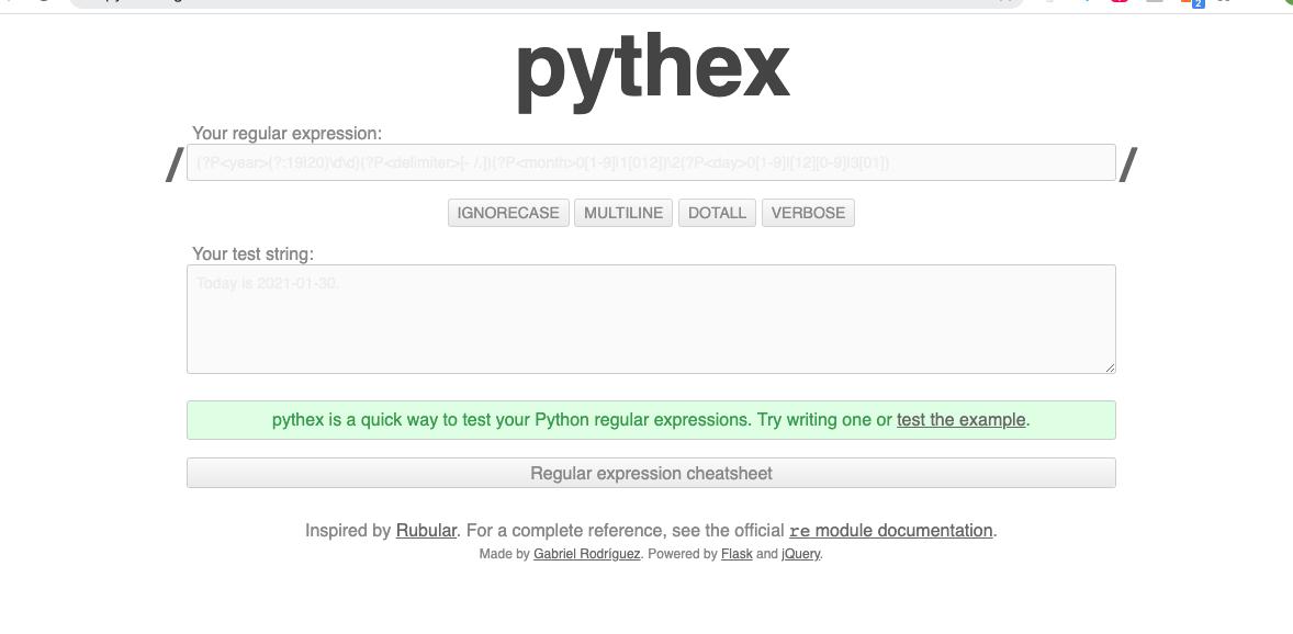 pythex