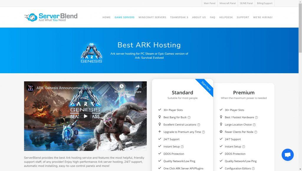 Serverblend- Best ARK Server hosting