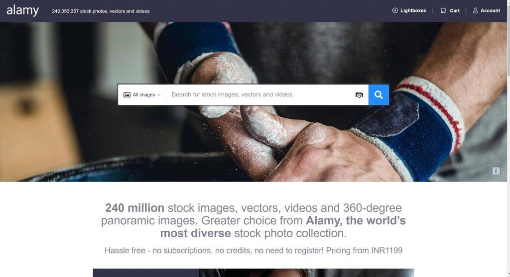 Alamy free stock image site