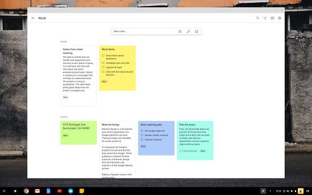 Google keep- Evernote alternatives