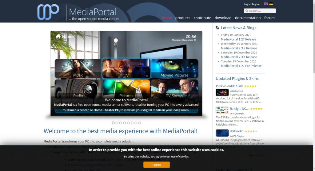 Media Portal- Best Alternatives of Kodi