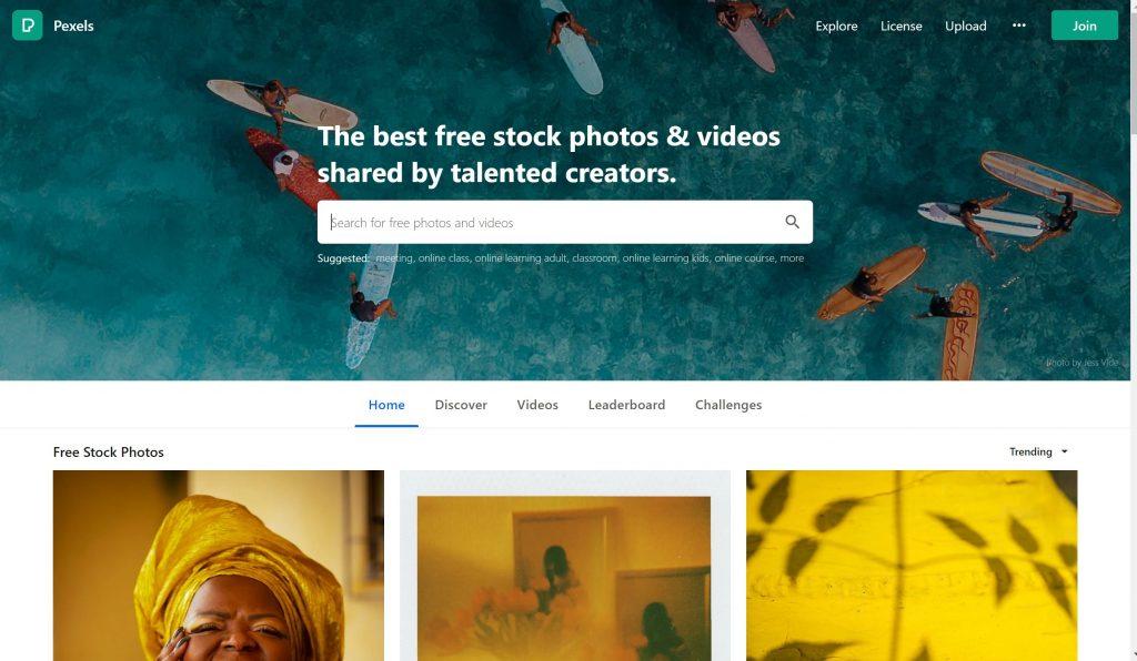 Pexels images- shutterstock alternatives