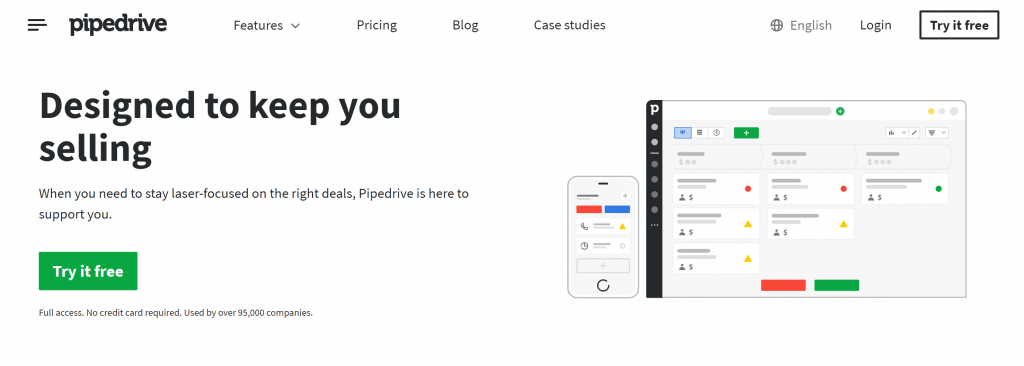 Pipedrive sales crm software