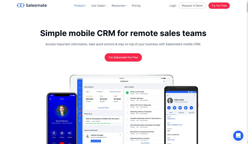 SalesMate mobile CRm for business