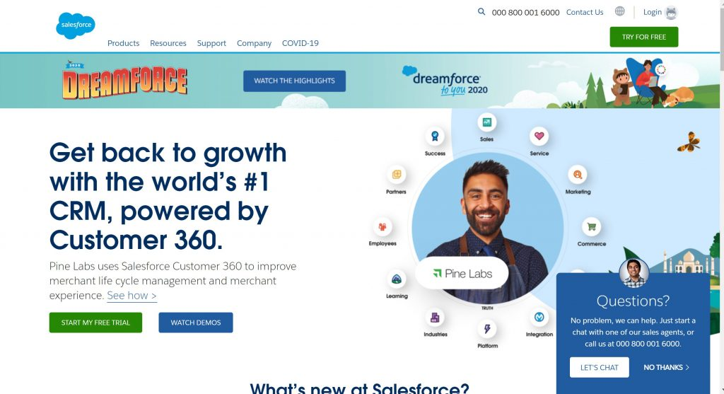 Salesforce CRM software tool