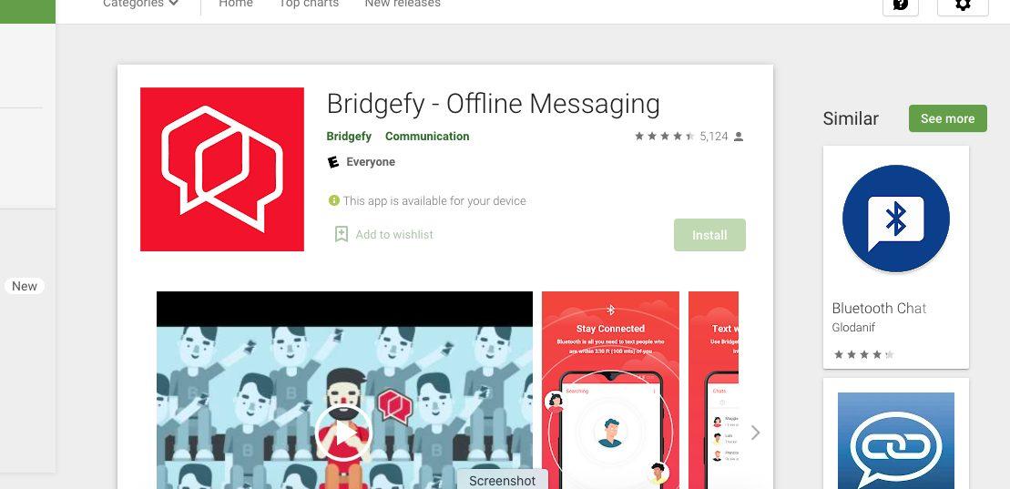 Bridgefy - whatsapp alternative