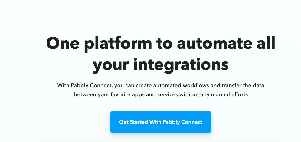 Pabbly connect- Zapier Alternatives