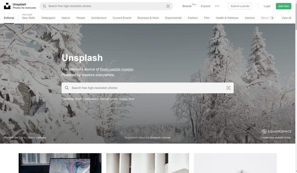 Unsplash images