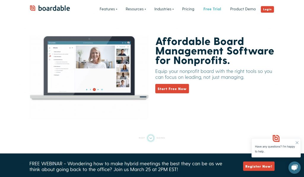 Boardable board and meeting management software
