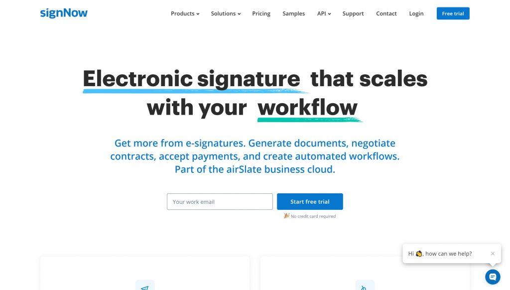 Docusign alternatives- SignNow