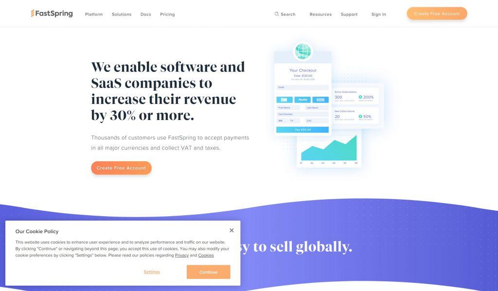 FastSpring- suvscription management sioftware