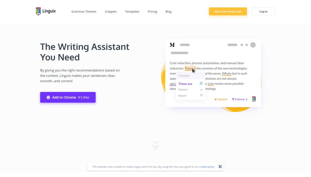 Linguix writing assistant for writers-
