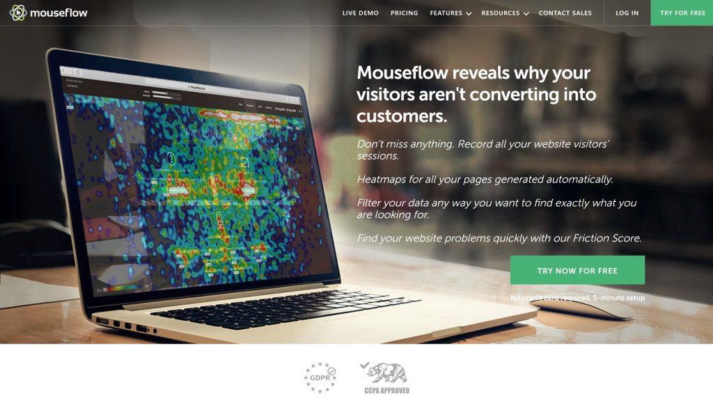 MouseFlow- best hotjar alternatives