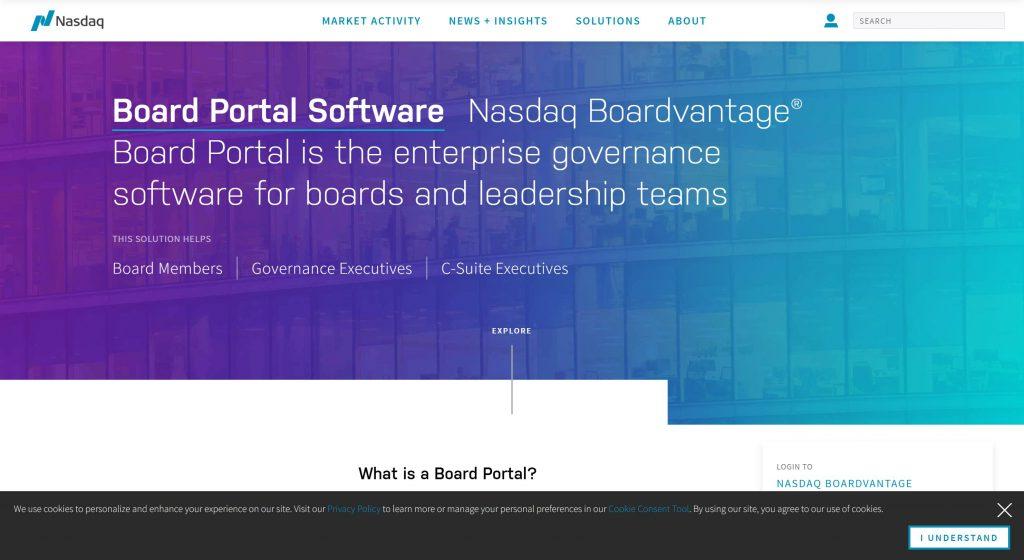 Nasdaq board management software solutrions