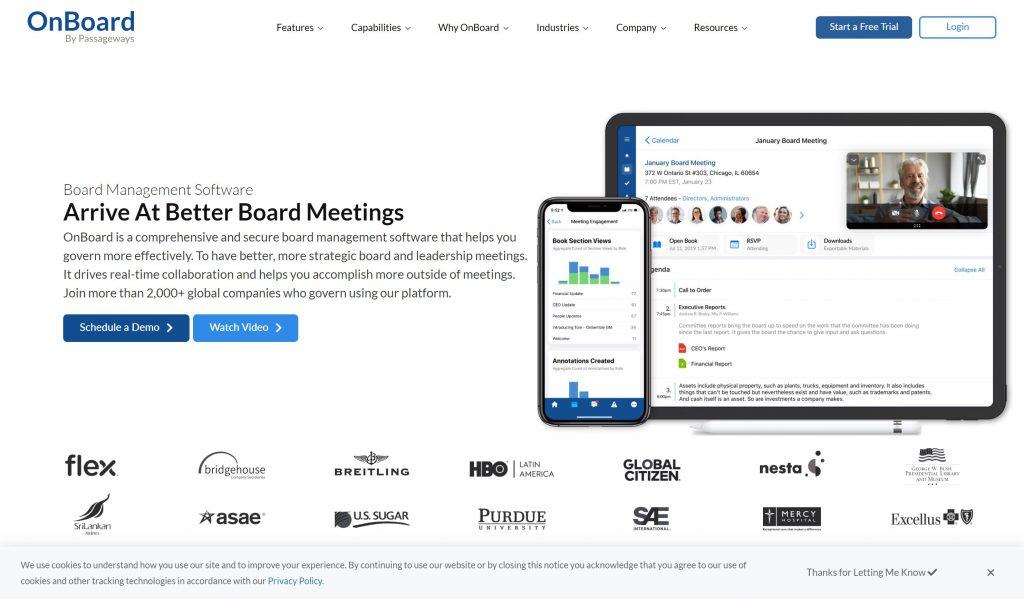 OnBoard passegeways- board manamenet software