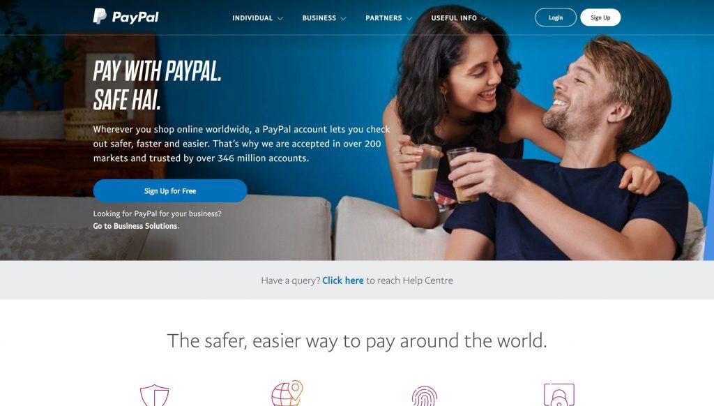 Paypal- best stripe alternatives
