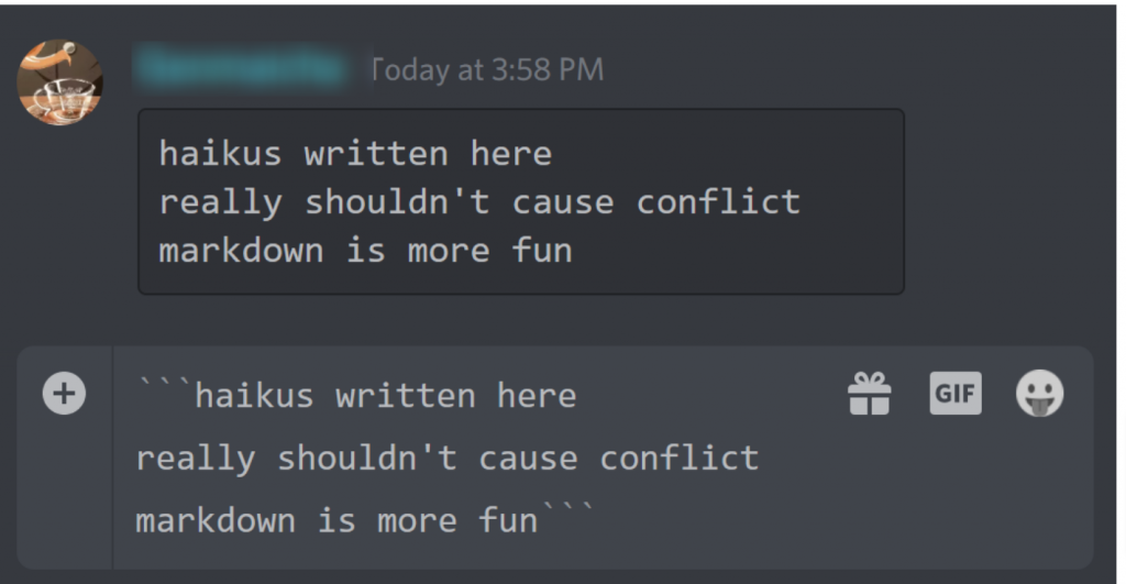 Quote someone on discord