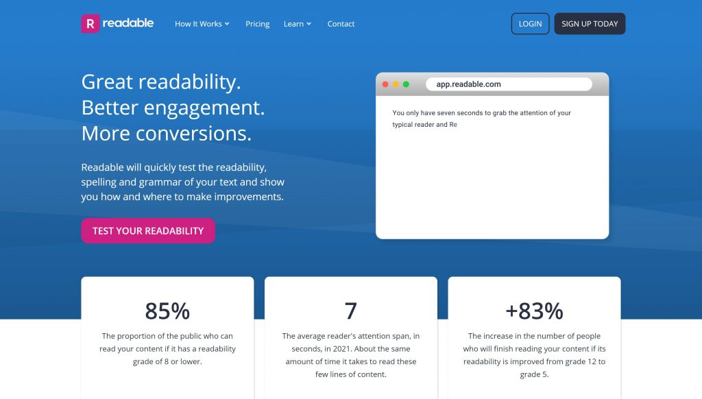 Readability- best graammarly alternatives