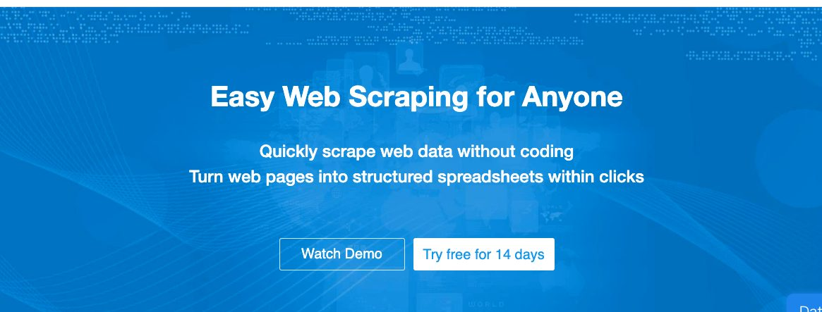 octoparse - web scrapping tool