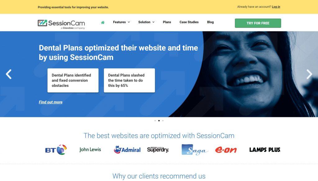 SessionCam website mapping tool- hotjar alternatives