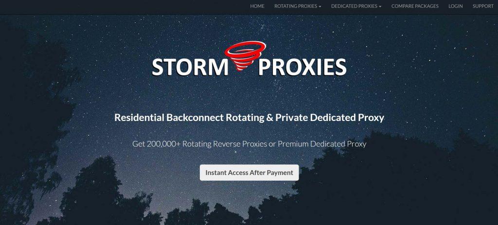Storm Proxies rotating proxy