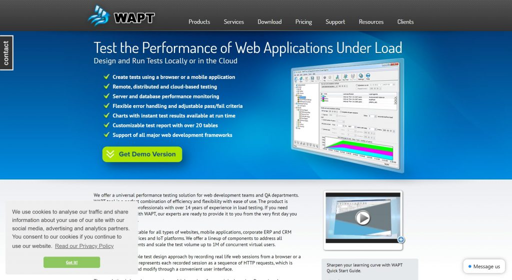 Wapt- best software testing tools