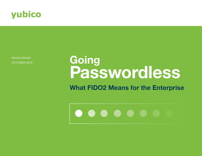 Yubico passwordless management service- best passwordless authntication