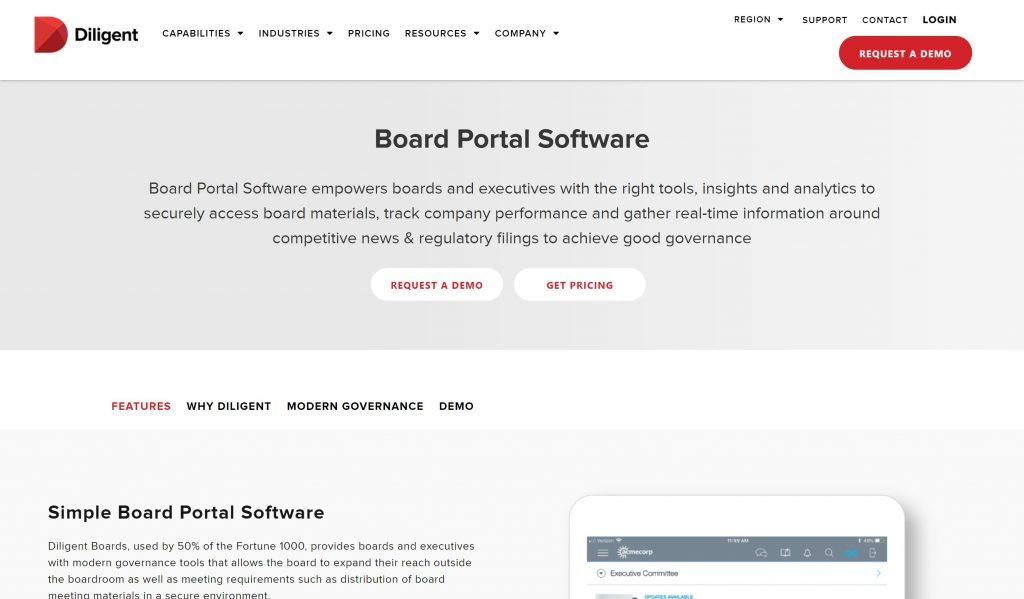 diligent board management tool