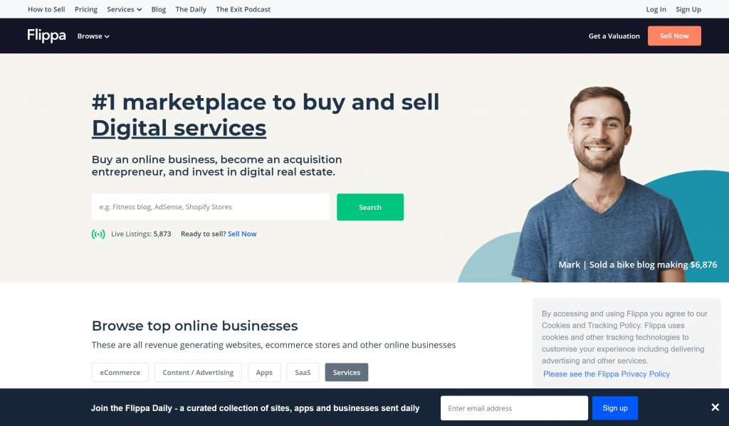 Flippa marketpkaces- buy and sell online business