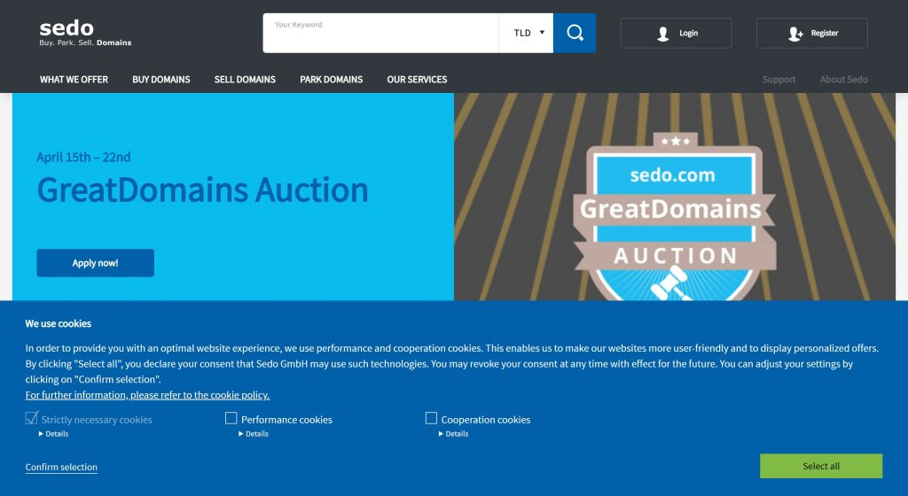 Sedo- marketplaces to sell and buy online business