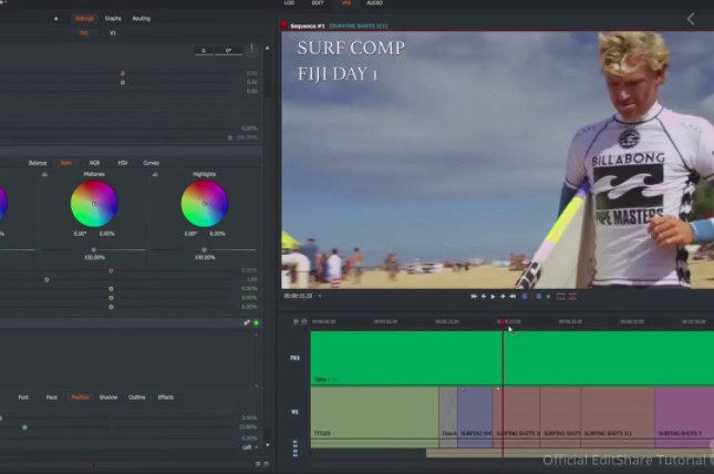 Lightworks video metadata editor