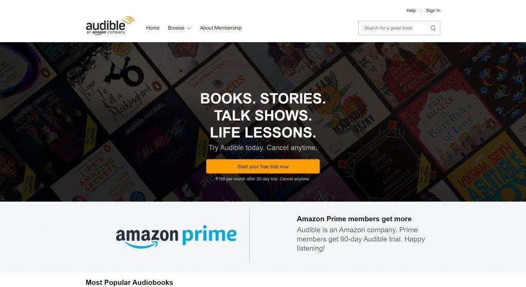 Audible- audiobook alternatives