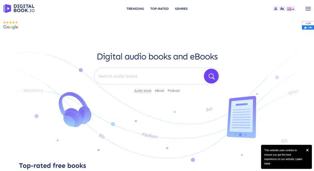 Digital Book io- audiobook alternatives
