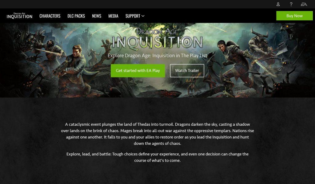 Dragon age inquisition wont launch error