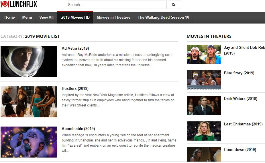 Lunchflix- best Los movies alternatives