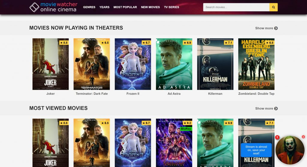MovieWatcher for los sites
