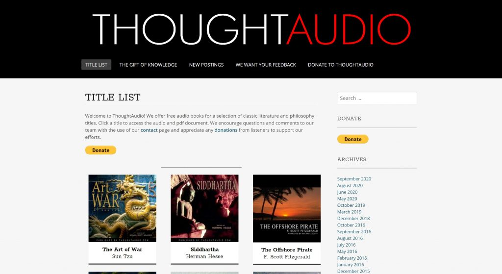Thought Audio- best audiobook bay alternatives