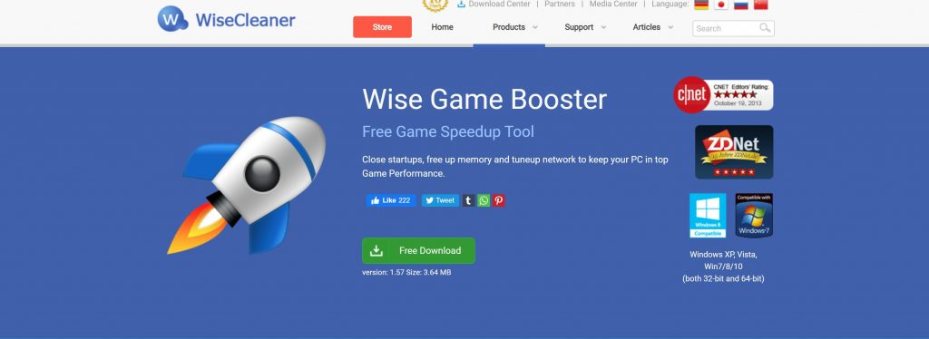 Wise Game Booster- how to run games without graphic card