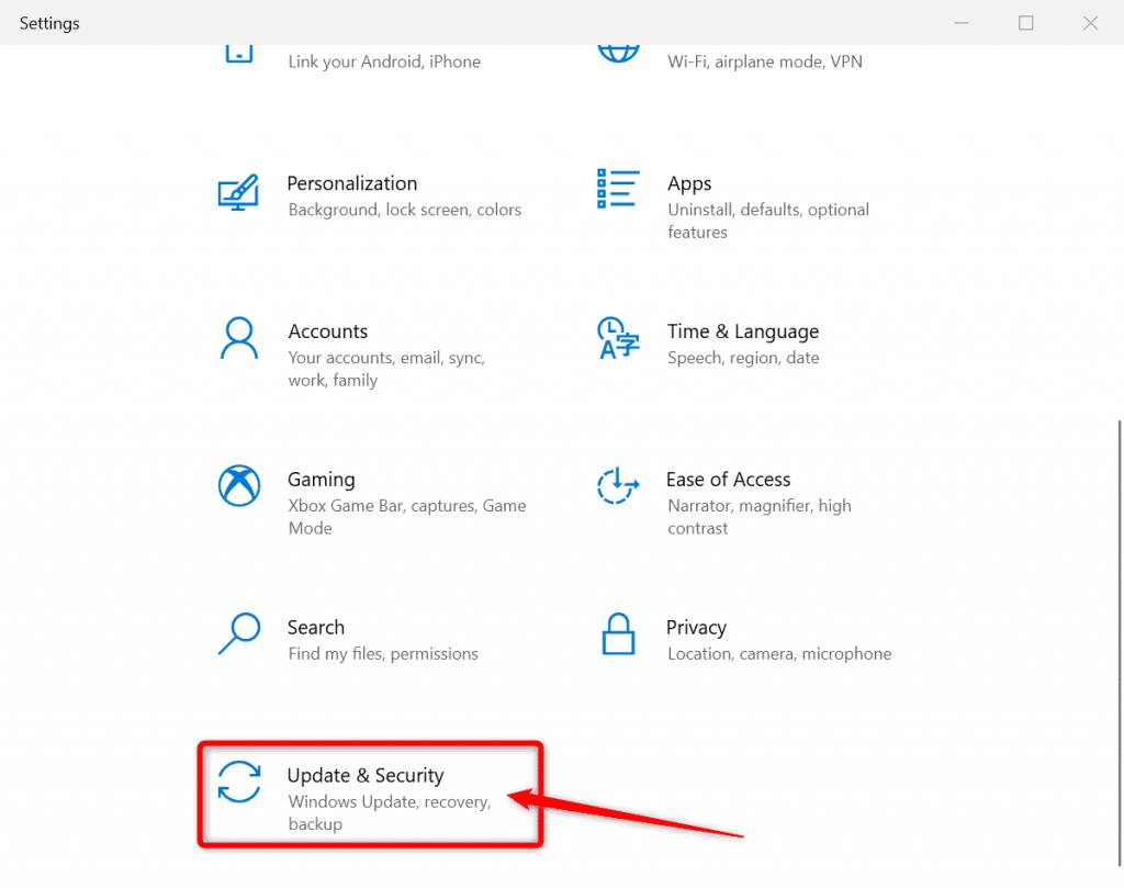 open update security