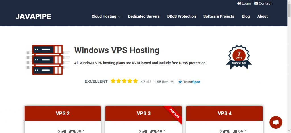 JavaPipe forex vps hosting